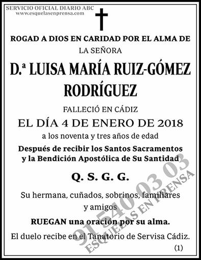 Luisa María Ruiz-Gómez Rodríguez